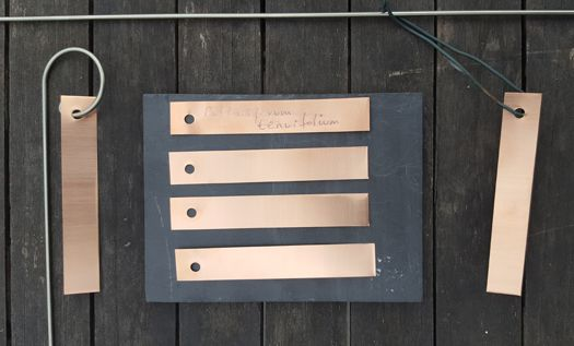 Thin Copper Label or Copper Tag