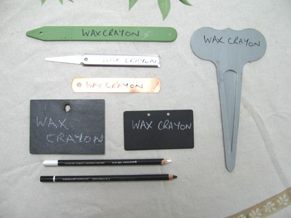 Wax Crayon (also known as a chinagraph or glasochrom pencil)
